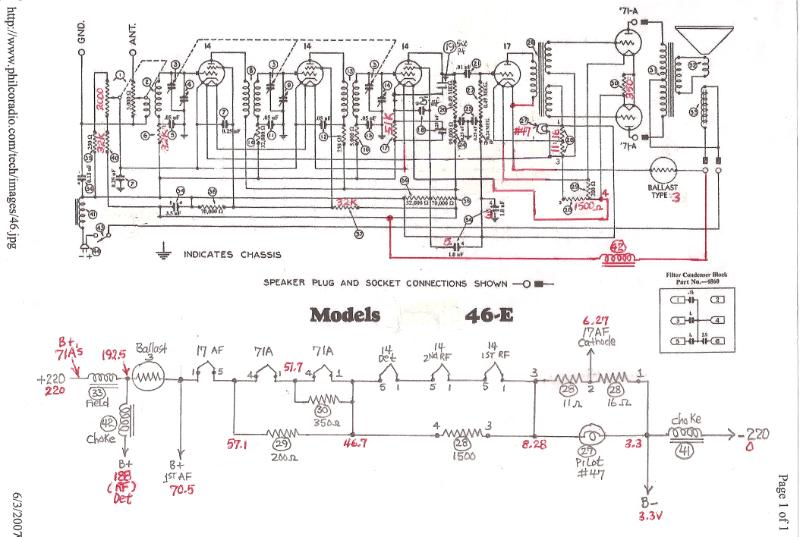 restoration of a philco model 46e rh mcclellans com 1966 Mustang Fuses Size 1970 Mustang Alternator Wiring Diagram